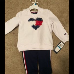 NWT Tommy Hilfiger 24 month sweat suit outfit